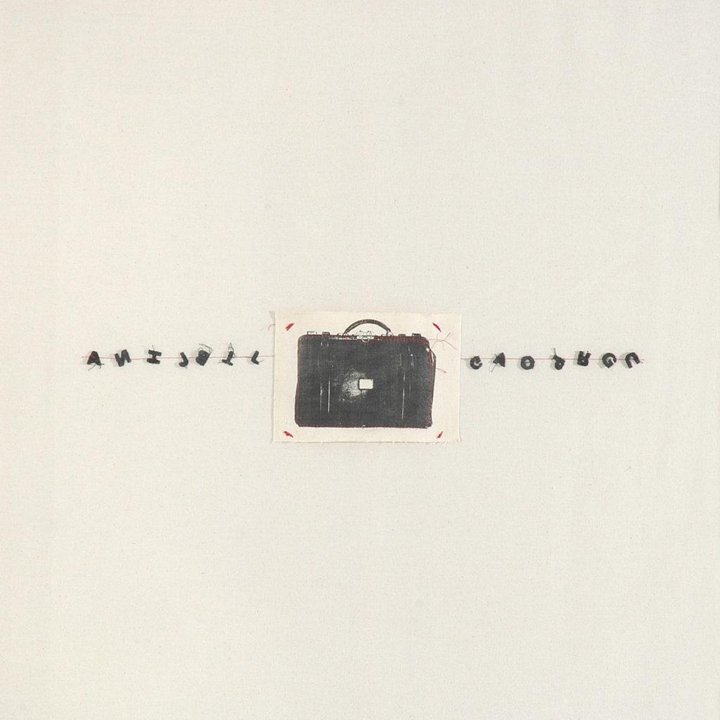 Litografía sobre tela con costura. 85 x 85 cm. 2007
