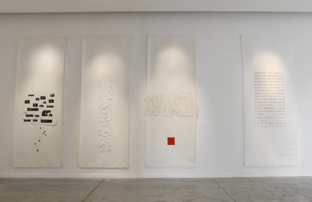 Litografía y costura sobre papel de algodón. Medidas variables. 2011