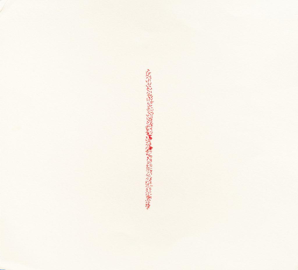 Papel de algodón cosido. 35 x 35 cm. 2017
