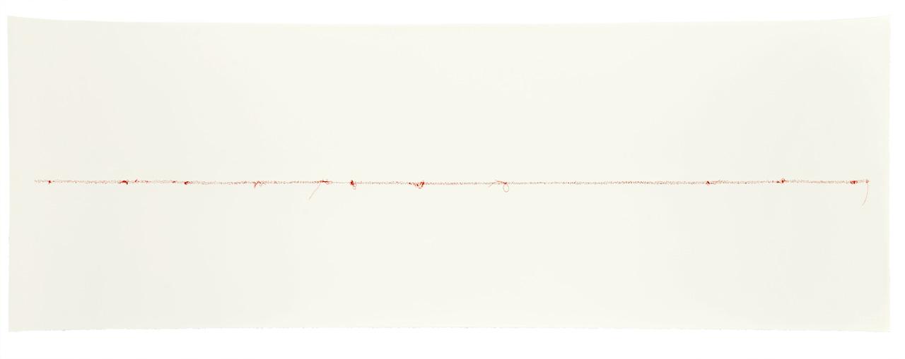 Papel de algodón cosido. 70 x 200 cm. 2018